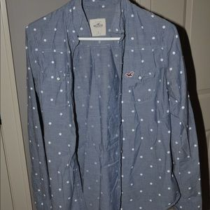 Hollister size S jean button up